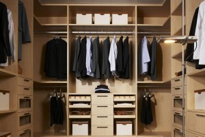 Wardrobe Design - Oak Walk In Wardrobe