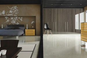Ultra Gloss Fitted Bedroom Furniture Design